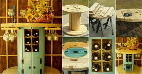 turn   wire spool   beautiful wine table
