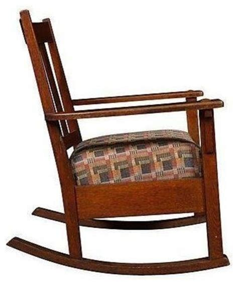 pre owned oak mission style rocking chair craftsman