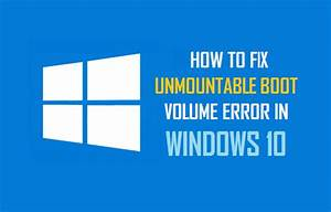 How To Fix Unmountable Boot Volume