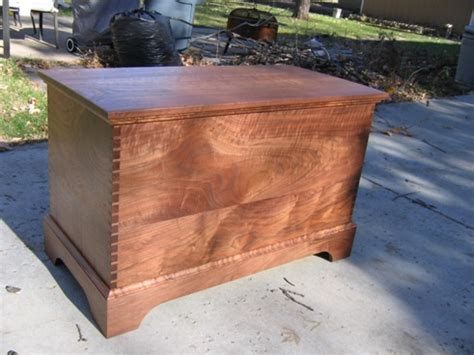 dovetailed walnut blanket chest finewoodworking