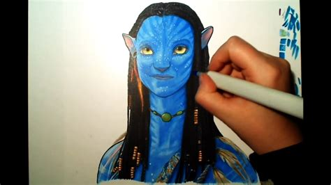 Copic Marker Drawing Of Neytiri From Avatar