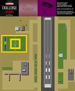 1992 Nintendo Campus Challenge Game 3 Pilotwings Map 1