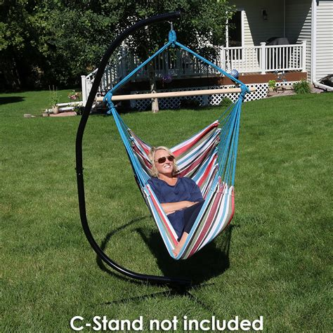 hammock swing chairs sunnydaze jumbo hanging chair hammock swing c stand