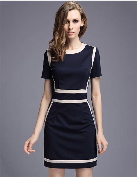 womens slim fashion europe style  neck office dresses