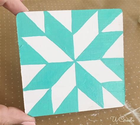 diy quilt block coasters