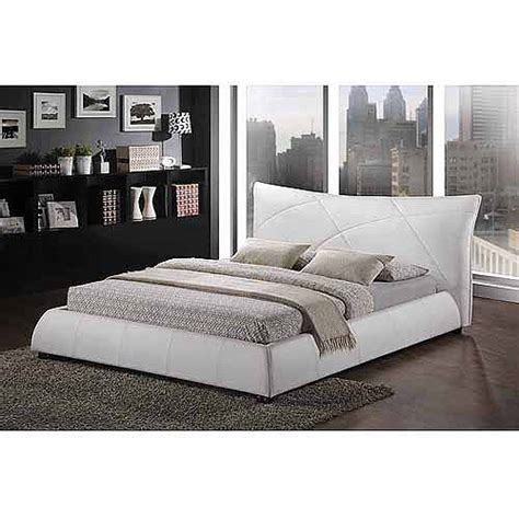 baxton studio corie king modern platform bed white