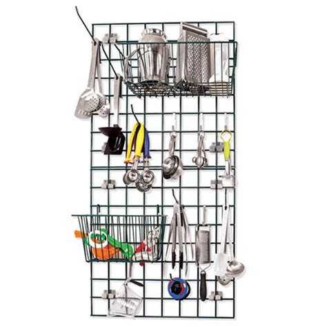 wall organizer system for kitchen focus foodservice fwmkit1 ez wall prep and drying kit 8882