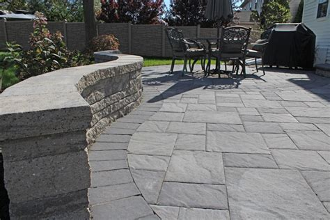 new paver patio and seat wall lancaster pa tomlinson