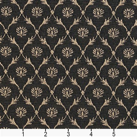 Jacquard Upholstery by B642 Black Floral Trellis Woven Jacquard Upholstery