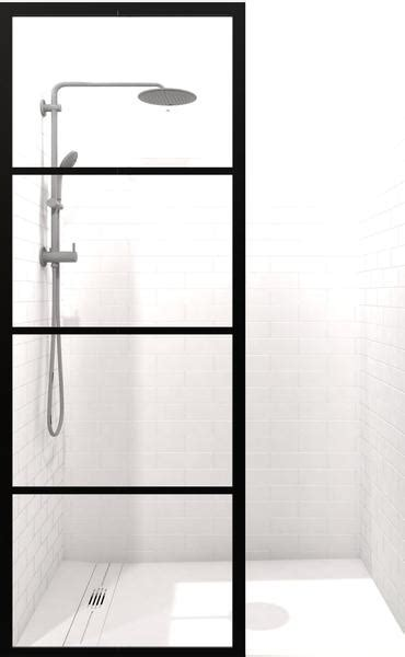 gridscape gs industrial fixed glass shower screen