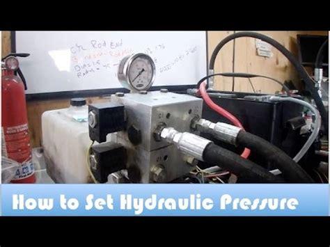 set  hydraulic relief valve youtube