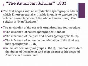 Essay Learning English The American Scholar Essay Texting Community Service Online also Example Of A Good Thesis Statement For An Essay The American Scholar Essay Poa Tuition Assignment Summary Of The  Ghost Writing Services Adelaide