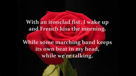 bon jovi bed  roses  lyrics  screen youtube