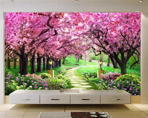 3d Wallpapers Trees by 3d Wallpaper Mural Fashion 3d European Cherry Tree Garden