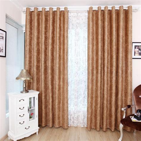 floral beautiful energy saving light brown blackout curtains