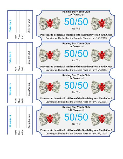 50 50 Raffle Tickets Template 50 50 Raffle Flyer Template In Word And Pdf Formats