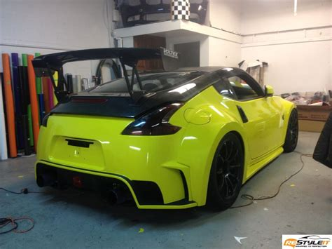 awesome nissan  wrapped  restyle  autoevolution