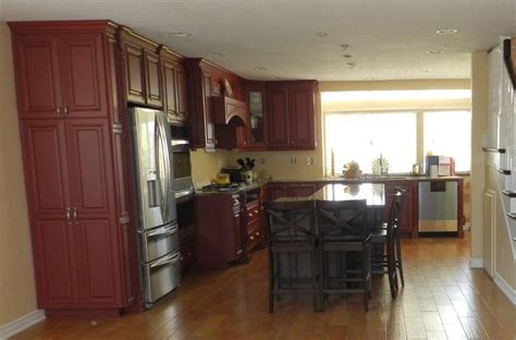 refaced kitchen cabinets refinish or reface kitchen cabinets which is right for you 1800