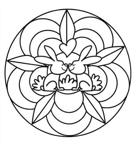 kostenlose malvorlage mandalas mandala mit verliebten