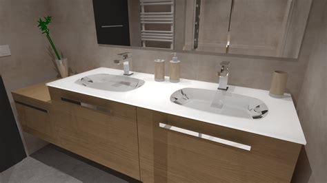 salle de bain bois beige blanc gris avec italienne