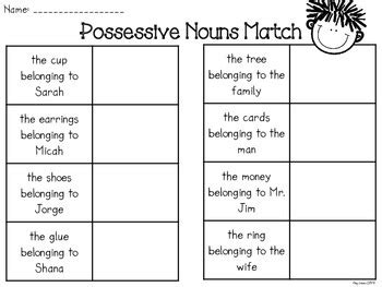The standard, l1.1b, states that the students will use common, proper, and possessive nouns. Possessive Nouns Freebie by Amy Lemons | Teachers Pay Teachers