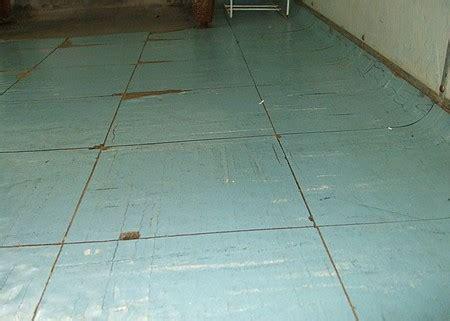 put   floor  asbestos tiles
