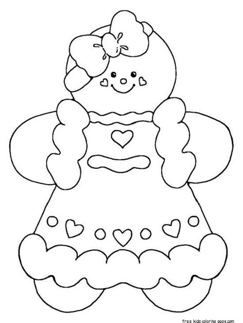 printable gingerbread man coloring pages  kidsfree printable coloring pages  kids