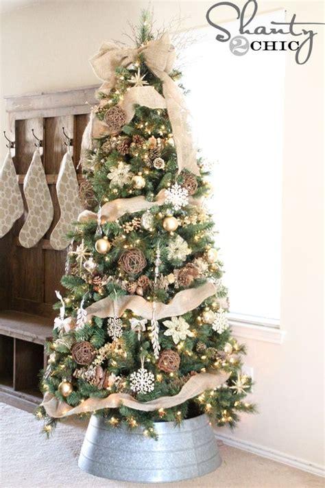 rustic christmas trees ideas  pinterest