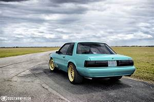 Teal Ford Mustang Fox Body - CCW Classic Forged Wheels - CCW Wheels