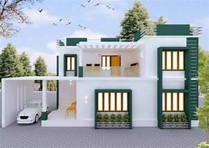 3bhk Modern House Plan Ideas India  Construction Service