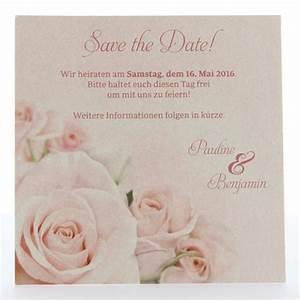 Save The Date Karte : romantische save the date karte mit rosa rosen ~ A.2002-acura-tl-radio.info Haus und Dekorationen