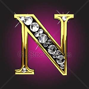 Diamond Letter N · GL Stock Images