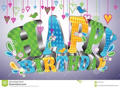3d Happy Birthday Photo by Glossy 3d Type Happy Birthday Stock Vector Image 15127725