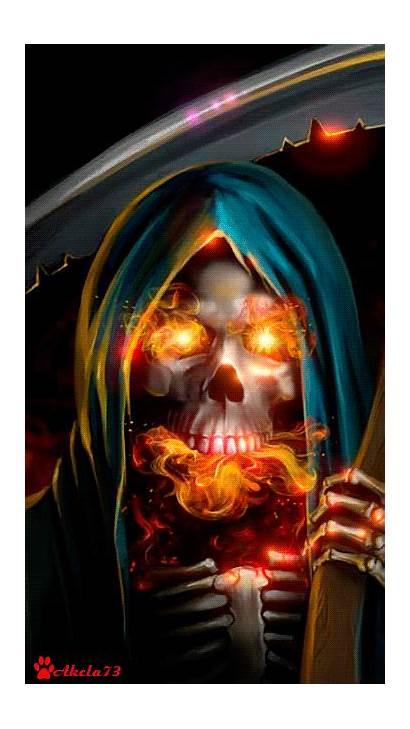Reaper Skull Fire Gifs Grim Skulls Animated