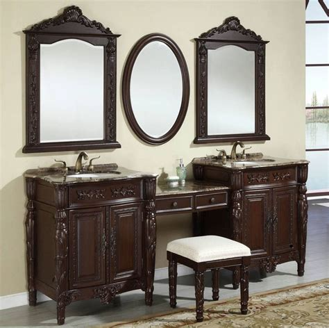 Wooden Bathroom Sink Cabinets by Bathroom Vanities Classic Wood Vanity Stools For