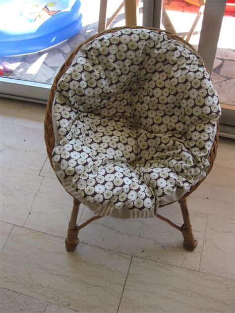 coussin rond pour mini fauteuil rotin photo de mes