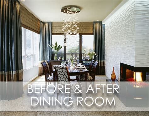 Beach Inspired Modern Dining Room Before And After