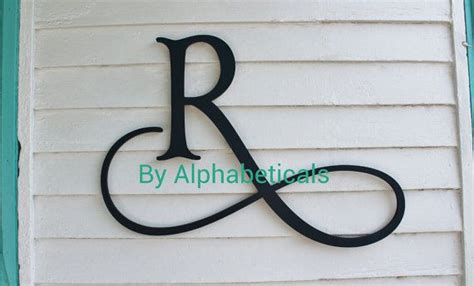 wooden initial monogram wall hanging wall decor wooden letters script wall letters housewares