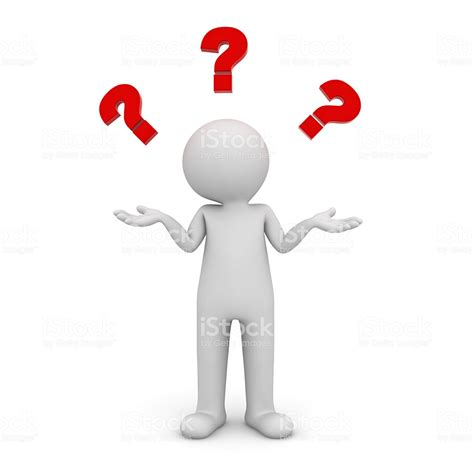 Man Thinking With Red Question Marks Stock Photo And More