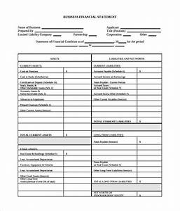 sample business financial statement form 9 download With trust financial statements template