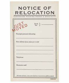 front door moving announcement postcard magnet flat With change of address note cards