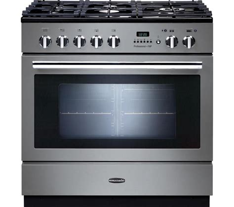 buy rangemaster professional fxp 90 dual fuel range cooker stainless steel chrome free