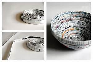 Basteln Mit Papierstreifen : bastelideen mit papier papierschale selbermachen ~ A.2002-acura-tl-radio.info Haus und Dekorationen