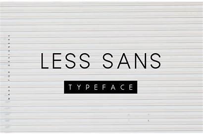 Font Sans Minimal Less Typeface Fonts Psd