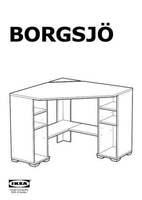 ikea corner desk instructions ikea borgsjo hoekbureau furniture download manual for free