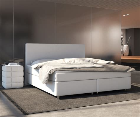 Bett Cloud Weiss 180x200 Cm Kingsize Matratze Topper