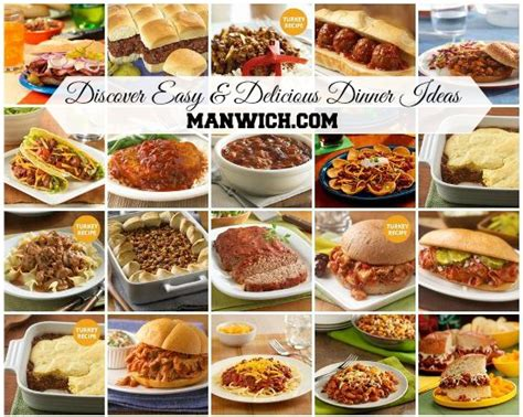 simple and tasty dinner recipes image gallery manwich recipes
