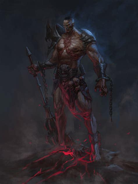 drawing warrior fantasy art armor weapon skull