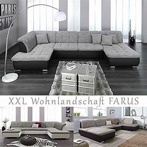 Wohnzimmer Couch U Form : xxl wohnlandschaft couchgarnitur farus u form versch farben ottomane rechts oder links ~ Bigdaddyawards.com Haus und Dekorationen