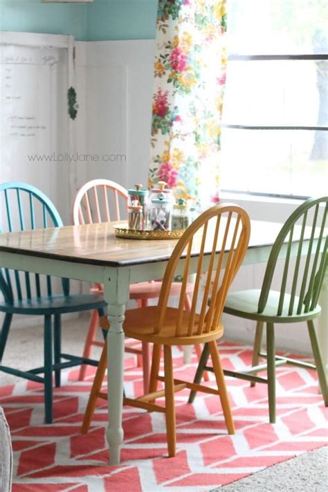 colorful kitchen chairs american chalky paint tutorial chalky paint colorful 2342